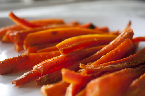 Baked Carrot Fries | Must Come Hungry